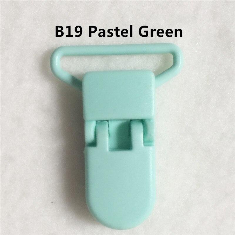 20 цветов смешанный) DHL 300 шт. Горячие формы D 2.5 см 1 ''Пластик маленьких Соски соска пустышка адаптер Chain Зажимы для 25 мм ленты - Цвет: B19