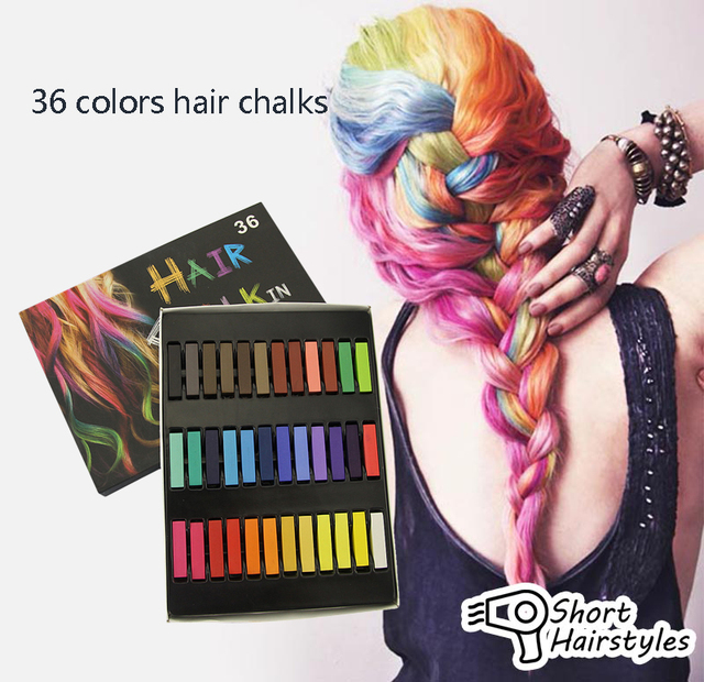 1 Set 36 Colors Short Non Toxic Temporary Pastel Hair Square Hair