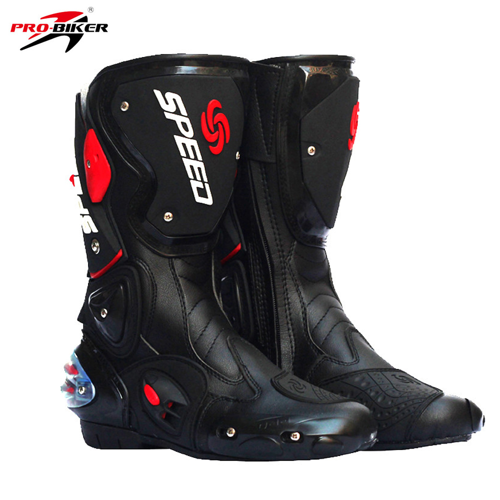 Pro Biker Motorcycle Boots Pro-Biker SPEED Racing Boots Motocross Boots Waterproof Riding Racing Cycling Boots Shoes Men