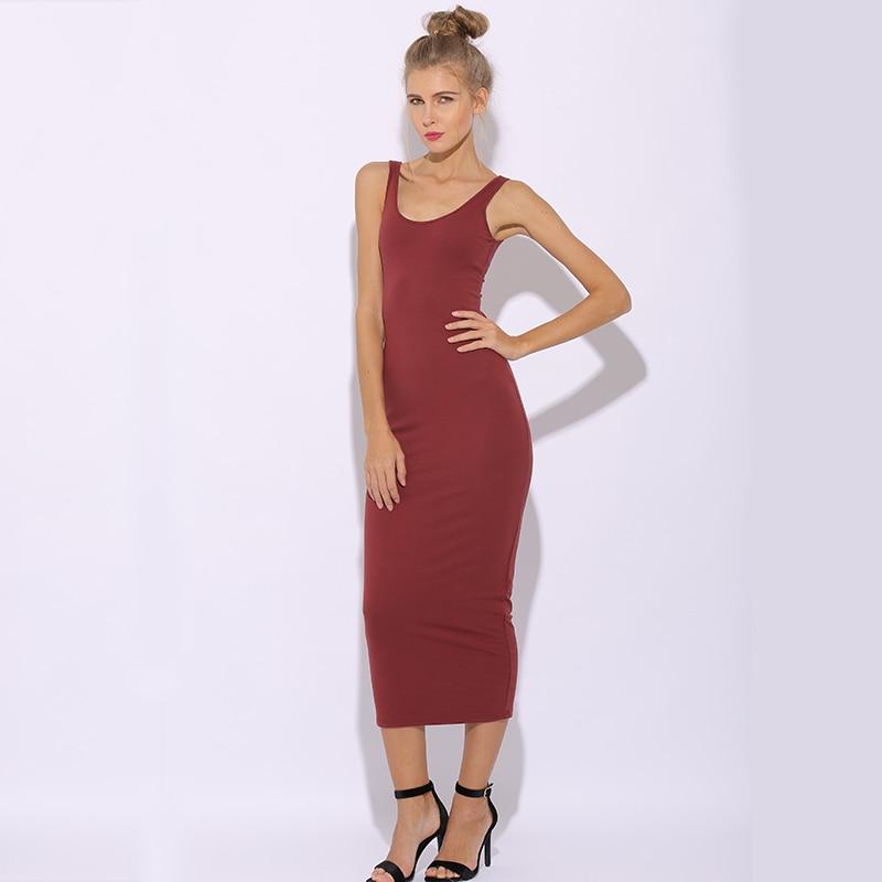 5bcaed55fabf Chictorso 2018 Summer Dress 2 Layers Sleeveless Cotton Tank Dress Sexy  Bodycon Midi Dress Plus Size Club Party Dresses Vestidos