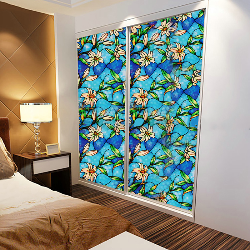 1Pc DIY Home Decor Static Cling Cover Stained Window Film ...