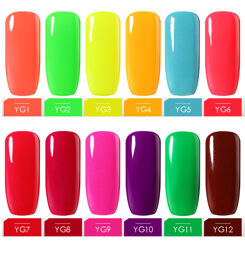 Belle Fille 10ml Neon Color UV LED Lamp Nail Gel Polish Gelpolish DIY Nail Art Decoration Varnish Soak Off Gel Lacquer Gel Lak  ...