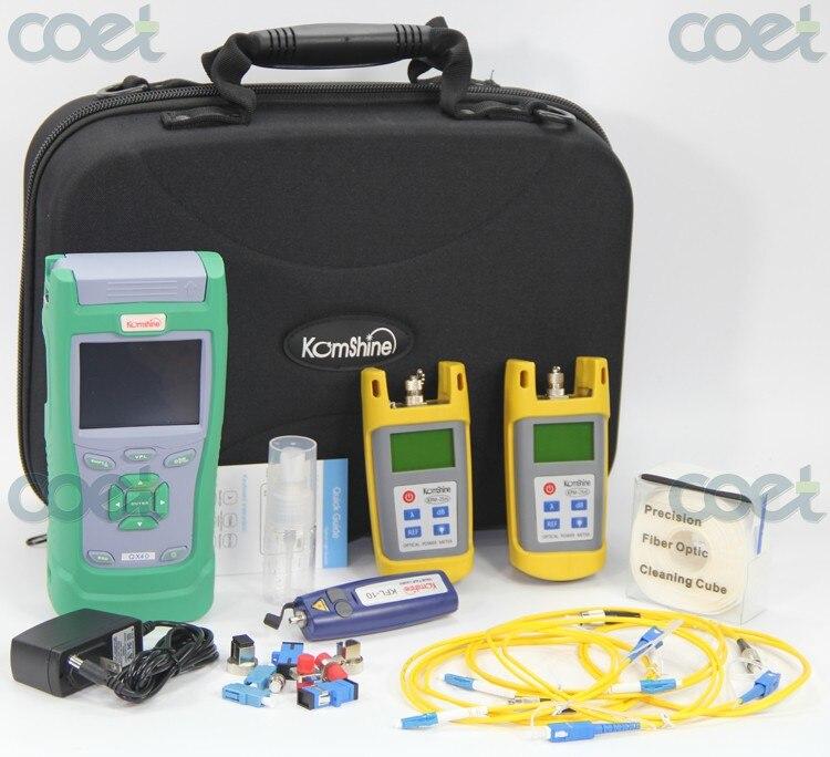 KomShine KQX-30 Optic Fiber OTDRTest Kit includ QX30 1550nm 30dB OTDR + Optical Power Meter+ Optical Light Source+VFLKomShine KQX-30 Optic Fiber OTDRTest Kit includ QX30 1550nm 30dB OTDR + Optical Power Meter+ Optical Light Source+VFL