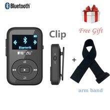 Original RUIZU X26 Mini Clip Bluetooth Reproductor de MP3 de 8 gb con Pantalla Tarjeta SD de la Ayuda FM Radio Grabadora de Voz + envío del brazo del deporte banda