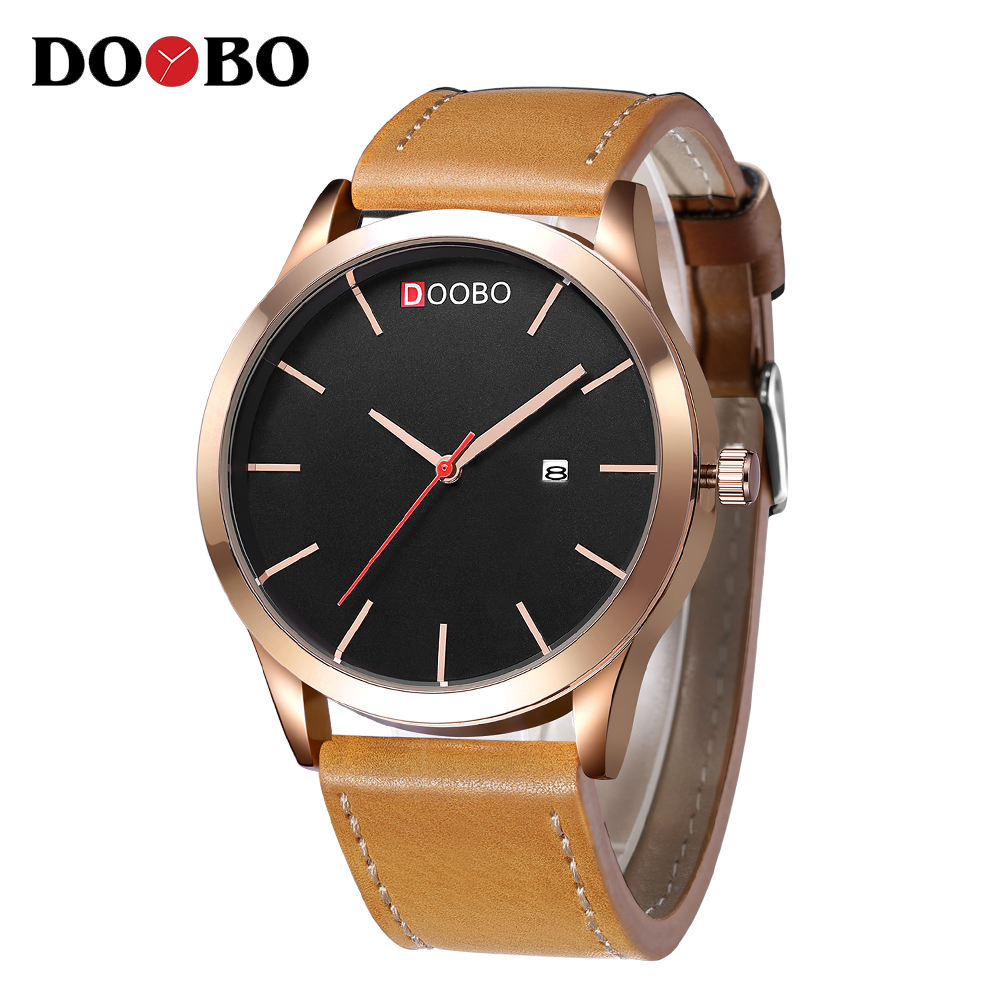 Relogio Masculino DOOBO Golden Men Watches Top Luxury Sports Brand Watch Man Quartz Gold Watches Clock Men Wrist Watch D029