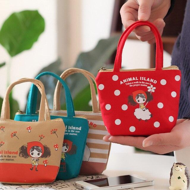 Cute Girls Coin Purse Cartoon Mini Handbag For Children Canvas Bag Headset Bags Women Small Kawaii Wallet Zipper Pocket Bag
