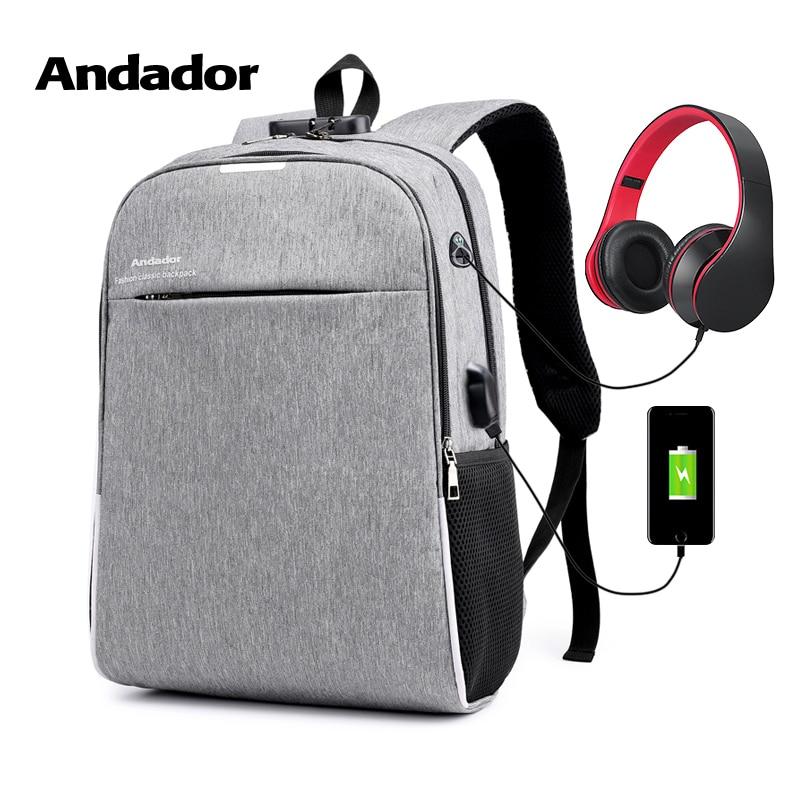 Mode plus grande capacité hommes 15.6 pouces sac à dos pour ordinateur portable loisirs anti-vol d'affaires voyage sac mâle USB charge sacs à dos