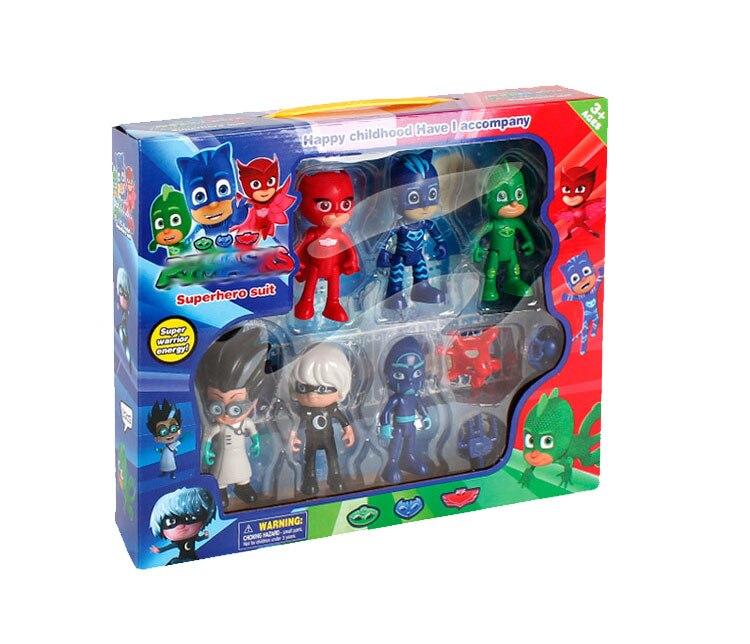 6PCS/Set 2017 Action Cartoon Pjmasks Figures Toys Set Owlette Catboy Gekko Owlette Lunar Girl Brinquedo Juguete Pjmask Kid Toys sonny angel mini figures easter series 6pcs set toys christmas