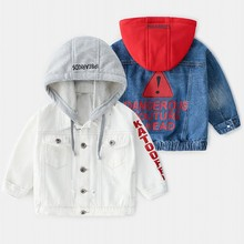 Baby Boys Coat 2019 New Spring Autumn Wash Soft Denim Coat Hooded Boy Outwear Jeans Jacket for Boys Kids Children Clothing bluetooth 5 0 earbuds wireless earphone headphones handsfree noise cancellation headset for phone android
