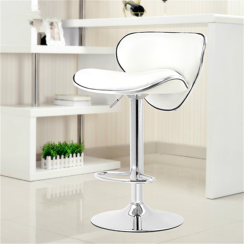 High Quality Ergonomic Lifting Swivel Bar Chair Rotating Adjustable Height Pub Bar Stool Chair PU Material Footrest cadeira high quality lifting swivel bar counter chair rotating adjustable height bar stool chair stainless steel stent rotatable