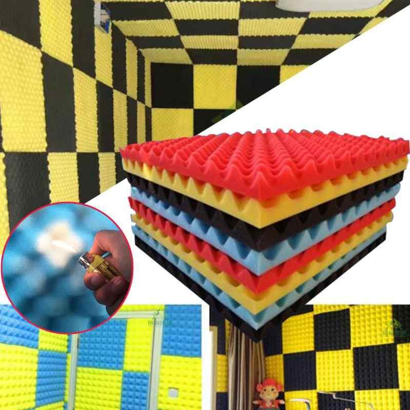 50x50 см настенное крепление звукопоглощающее устройство акустическая изоляция изоляции для бара студии Звукоизоляционная пена Акустическая Звукоизоляция случайный цвет