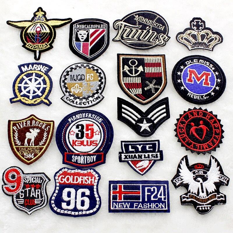 Parche personalizado bordado de hierro bordado personalizado logotipo personalizado insignia militar etiqueta 100 piezas lote-in Parches from Hogar y Mascotas    1
