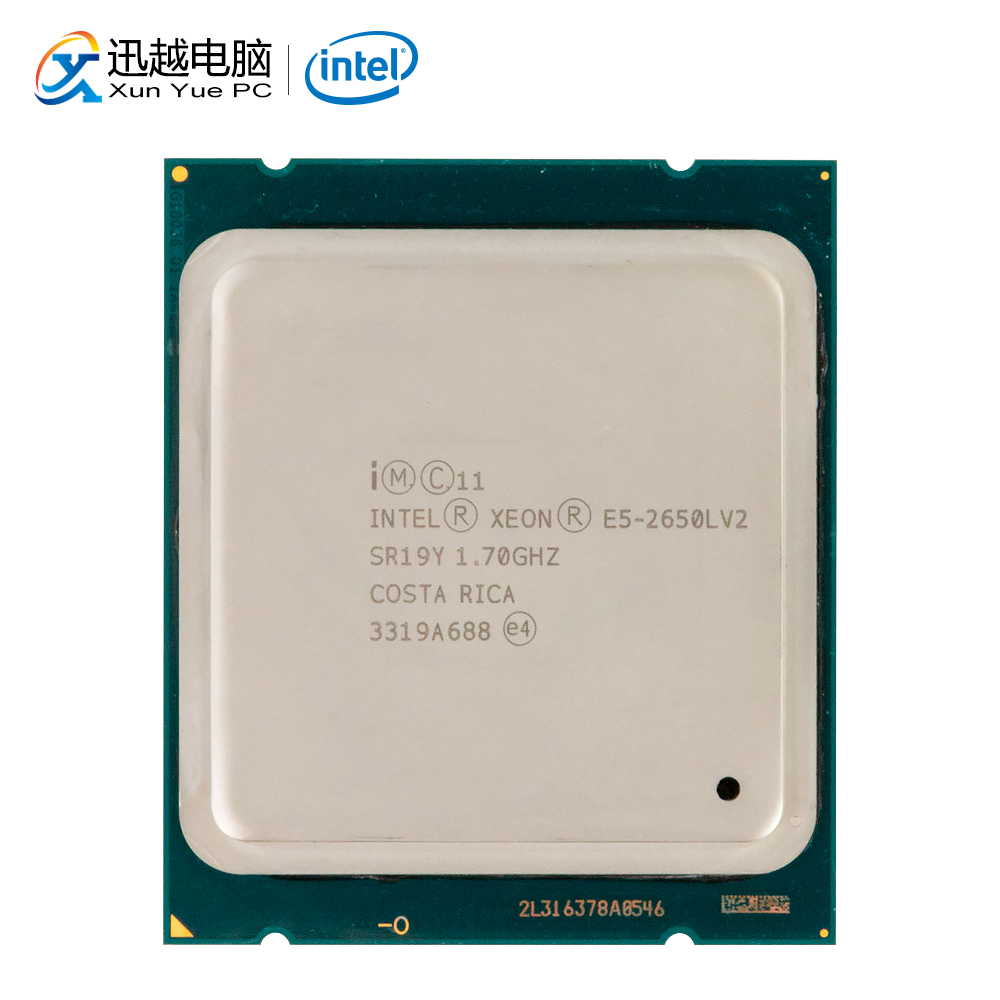 Intel <font><b>Xeon</b></font> E5-2650L V2 Desktop Processor 2650L V2 Ten Cores 1.7GHz 25MB L3 Cache <font><b>LGA</b></font> <font><b>2011</b></font> Server Used CPU image