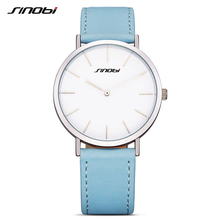 SINOBI New Design Fashion Ladies Watches Elegant Simple Female Quartz Watch Women MixMatch Leather Strap Waterproof Montre Femme