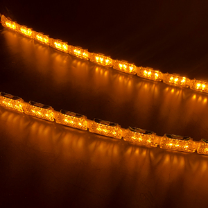 Image 4 - רונאן 60 בשעות היום ריצה לבן switchback כדי צהוב אור DRL כפול זורם סוג LED לבן ענבר מנורת רכב פנס