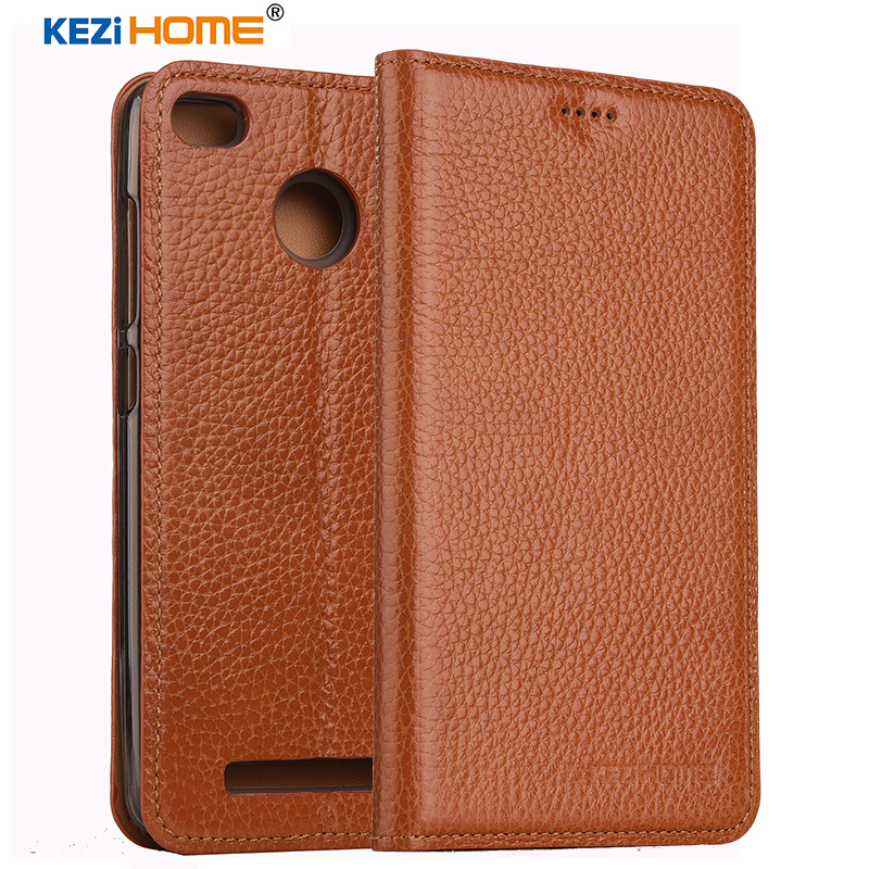 KEZiHOME for xiaomi redmi 3s case Flip genuine leather soft silicon back for xiaomi redmi 3 pro cover