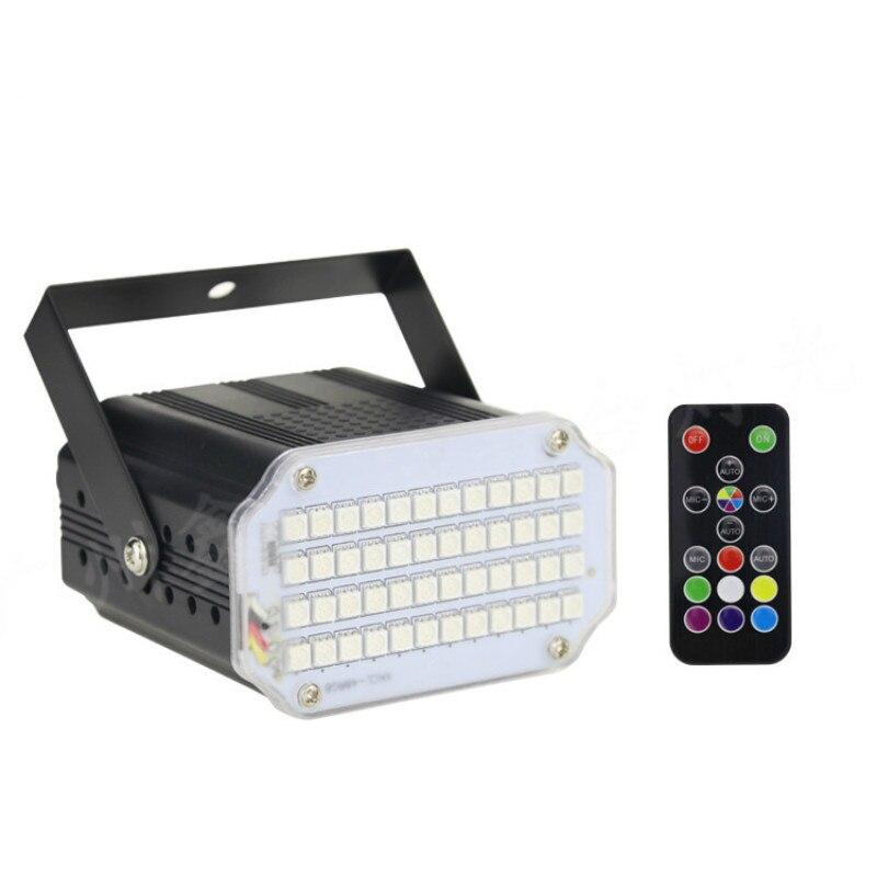 Strobe Light Plastic Shell 48pcs Patch LED Strobe Lights With Remote Control Mini Strob For KTV Disco Dancing Flash Bar Lights
