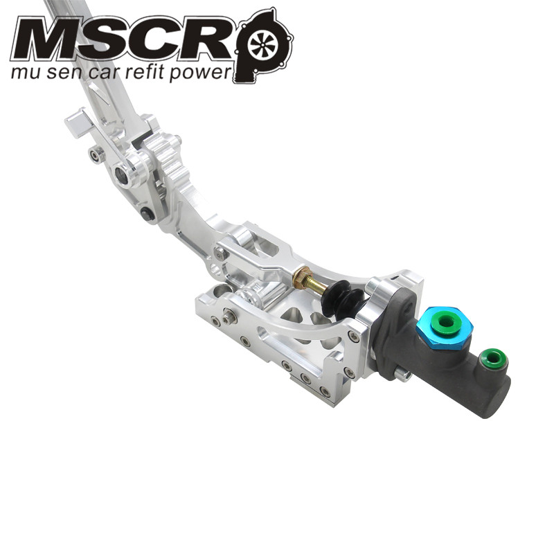 Image 3 - Universal Adjustable Aluminum Vertical Hydraulic Drifting Hand Brake With Special Master Cylinder S14 S13 silver-in Hand Brake from Automobiles & Motorcycles