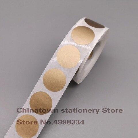 1000pcs bloco dos pces scratch fora adesivos 1 polegada casca redonda do ouro e adesivo