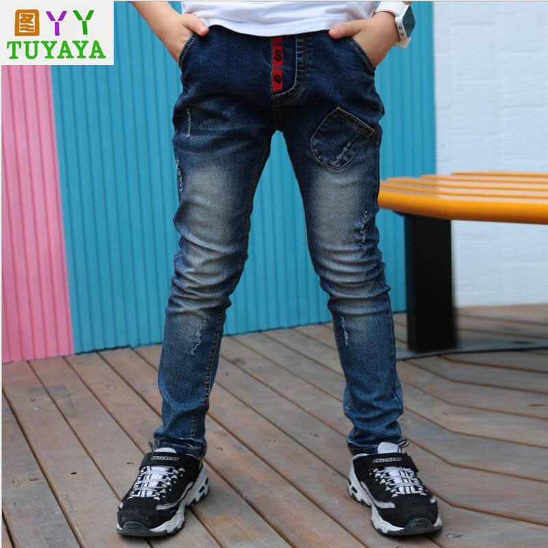 ᓂkids Ripped Jeans 2018 New Spring Autumn Children S Clothing Boys