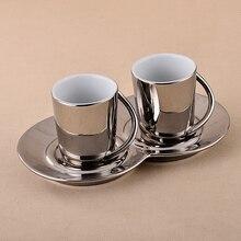 Planchas de cerámica taza de café y platillo conjunto taza de café espresso cappuccino taza de café y platillo moda taza y platillo