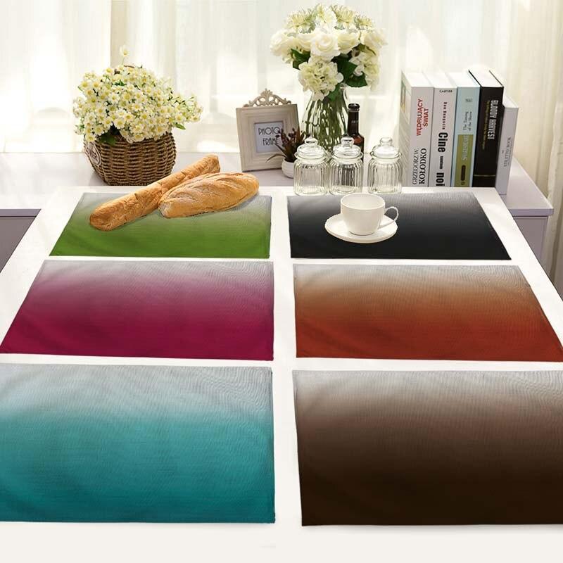 Fashion Simple Color Gradient Pattern Wedding Restaurant Dinner Jacquard Table Cloth Napkins Home Table Napkin 42*32cm MC0051