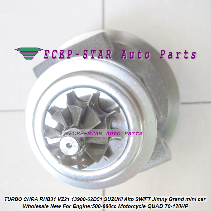 TURBO Cartridge CHRA Core RHB31 VZ21 13900-62D51 For SUZUKI Alto SWIFT Jimny Grand mini car 500-660cc Motorcycle QUAD 70-120HP (4)