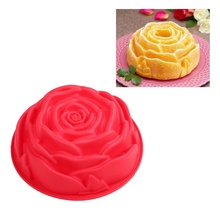 Larger Size Rose Cake Pan, Silicone Flower Cake Form Pan for Baking FDA Test Approved Cake Tools
