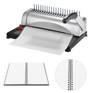 Image 5 - Aibecy delikli Metal tel delme ciltleme makinası 450 yaprak kağıt bağlayıcı zımba ofis ev aletleri raporu belgeleri ofis
