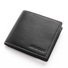 цена на Men Wallet 2018 New Design Wallet Male Genuine Leather Card Holder Short Wallet Casual Standard Wallet  Slim Coin Purse carteira