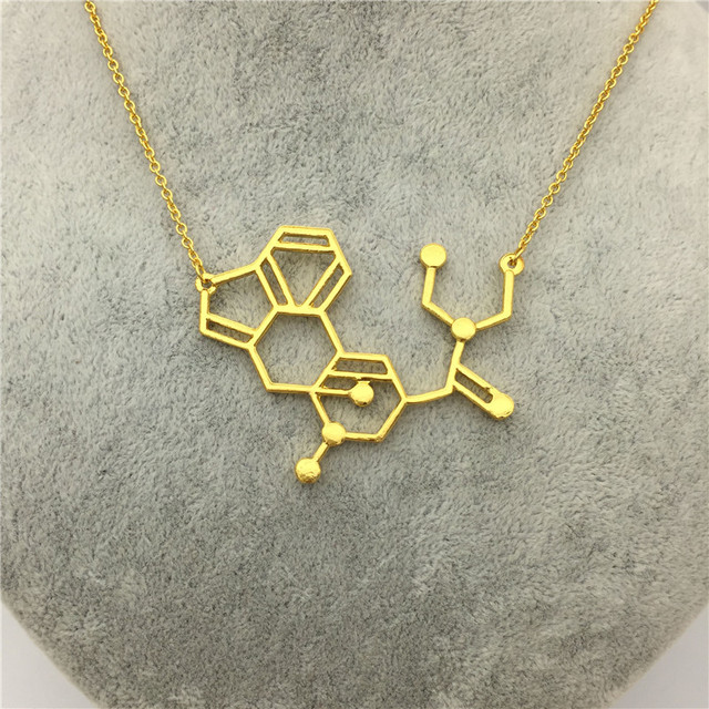 products quan dna necklace serotonin dopamine molecule pendant jewelry science lara acetylcholine