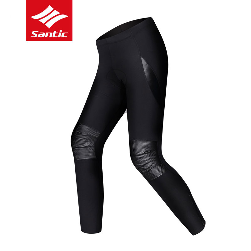 Santic Mens Winter Cycling Pants Breathable Warm MTB Road Bike Full Pants Trousers Outdoor Anti-Sweat Quick Dry Bicycle Clothing santic mens windproof outdoor sports bike bicycle running fitness ciclismo pants winproof sports trousers clothing m 3xl