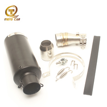 Motorcycle GP Exhaust Muffler Pipe Escape Moto 51MM Middle Link Pipe Adapter DB Killer Clamp Springs Scooter Full Exhaust System