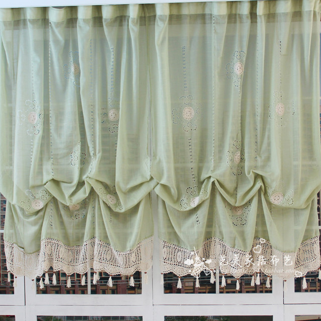 New Pastoral Style Adjustable Balloon Curtain, Living Room Shade,white  Window Treatment, Curtains