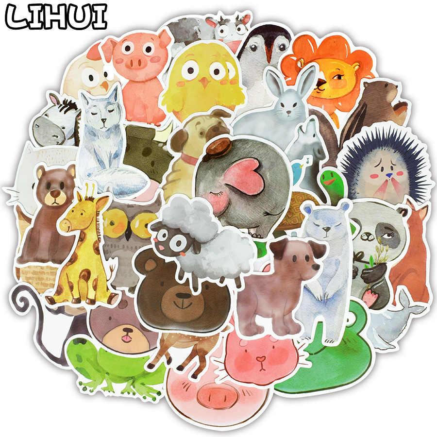 50 PCS צבעוני מדבקת חיות צעצועים לילדים בצבעי מים חמוד אנימה Cartoon מדבקות מדבקות כדי DIY מחשב נייד מטען סקייטבורד