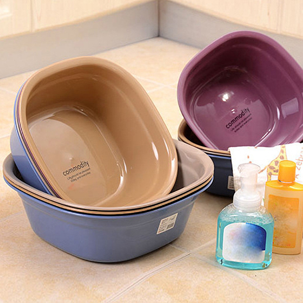 Household Plastic Basin Square Plastic Wash Basin Small Children Wash Dishes Wash basin Cleaning Pail Laundry Pan Dropshipping window mount hummingbird feeder