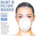 50 Unids Respirador Máscara Para Evitar la Respiración de Polvo Desechable Cosméticos de Tratamiento de Arte gancho para la Oreja de Protección Transpirable Wholesale B034 DD