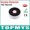 Free shipping home security Smoke alarm TM-VKL518 black color smoke detector with 10 Years Lifetime li-battery LED buzzer alarm