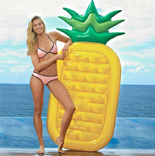 Summer Pineapple Swimming Pool Floats Air Mattress Inflatable Adult Kids Beach Bed Floating Island Water Party Fun Summer Toy