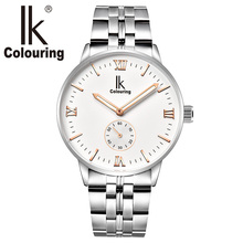 IK 2017 New Fashion Mens Watches Top Brand Luxury Automatic Self-Wind Watch Men Full Steel Clock Male Luminous relogio masculino