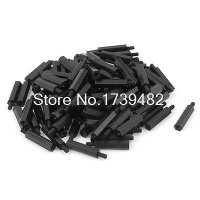 M3 22+6mm Male Female Thread Nylon Hex Standoff Spacer Screws PCB Pillar 100pcs m3 spacer hex standoff pcb hex nuts nylon black pillar female to female