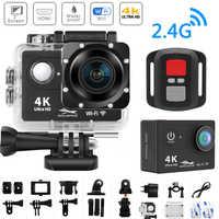 """WiFi 2.0 """"170D 4K Action Camera HD Ultra 4 K/25fps H9/H9R Remoto Da Câmera Ir cam à prova d' água Pro Esporte Câmera Do Capacete DV Cam Video"""
