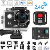 "WiFi 2.0"" 170D 4K Action Camera Ultra HD 4K/25fps H9/H9R Remote Camera Go Waterproof Cam Pro Helmet Camera Sport Cam Video DV"