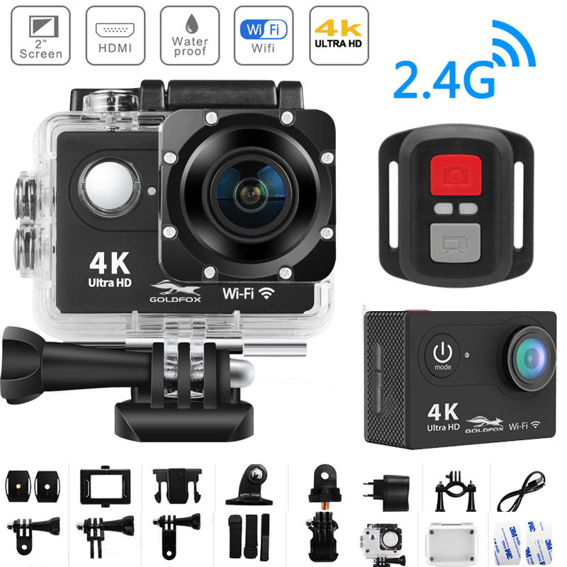 WiFi 2.0 170D 4K Action Camera Ultra HD 4K/25fps H9/H9R Remote Camera Go Waterproof Cam Pro Helmet Camera Sport Cam Video DV image