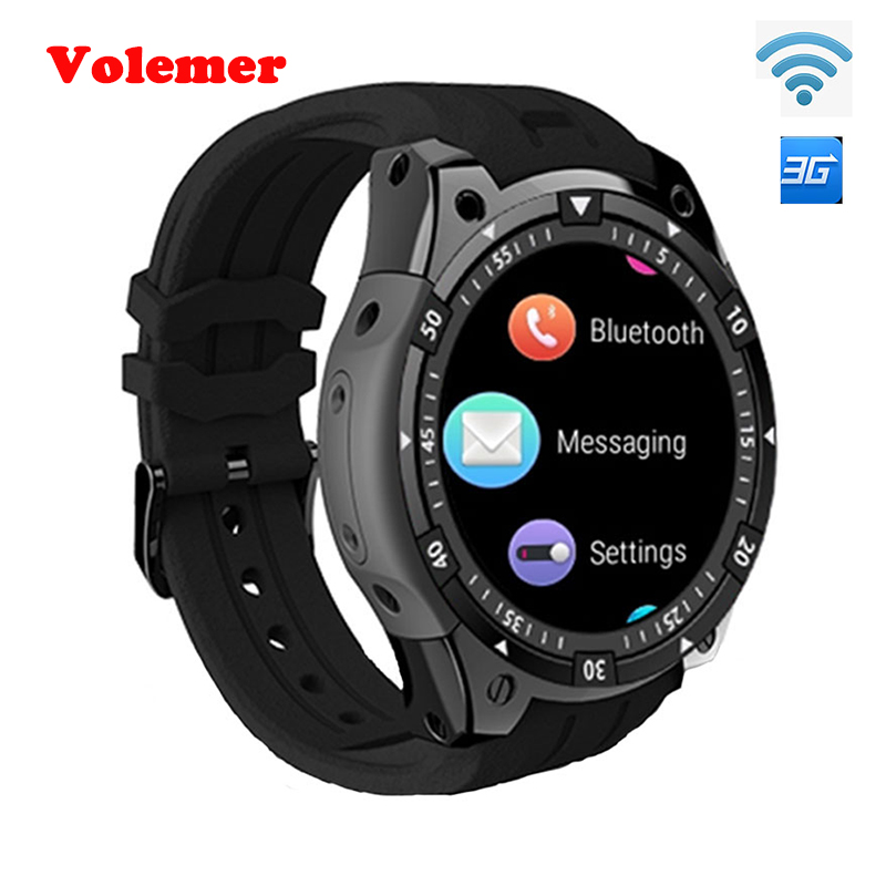 цена на Volemer 3G Smart Watch X100 MTK6580 Android 5.1 Dual Core Heart Rate GPS WiFi Smartwatch for IOS&Android phone watch