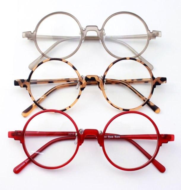 dernier style liquidation à chaud boutique officielle € 9.6 20% de réduction Nouveau Ultra léger Vintage rétro Flexible rond  unisexe noir ambre gris rouge montures de lunettes lunettes RX prescription  ...