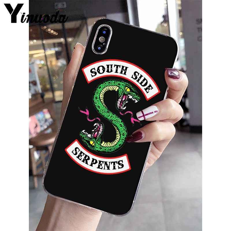 Yinuoda American TV Riverdale Jughead Jones Transparent Cell Phone Case for iPhone X XS MAX  6 6s 7 7plus 8 8Plus 5 5S SE XR