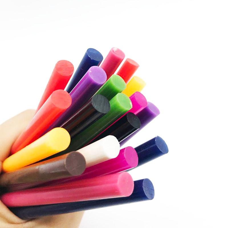 Разноцветные палочки для термоплавкого клея 7x100 мм 7 мм для электрического клеевого пистолета, аксессуары для самостоятельного ремонта рук,...