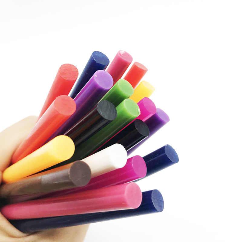 Mix Renkli 7x100 MM Sıcak Eriyik Tutkal 7 MM Elektrikli Tutkal Tabancası Zanaat DIY El Tamir aksesuarları Yapışkanlı Sızdırmazlık Balmumu Sopa