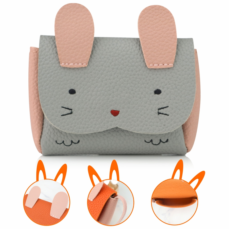 ULTRON Children 39 s cartoon animal PU Coin Purse Bag Kids Rabbit One Shoulder Bag Small Change Coin Purse Wallet Kids Bag
